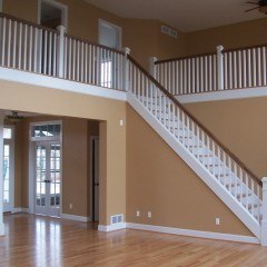 Interior great room with stairs